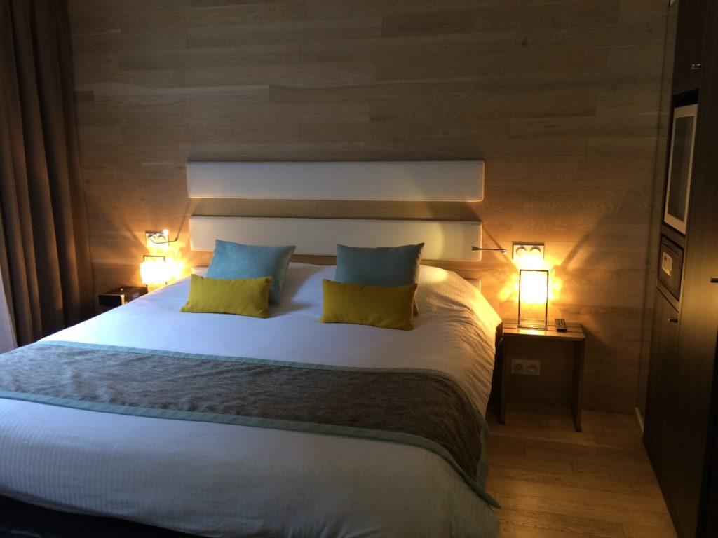 コルマールのホテル・ル・コロンビエ・スイーツの客室