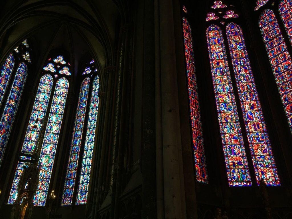 アミアン大聖堂のステンドグラス