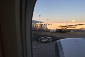 シャルルドゴール空港のエールフランス機