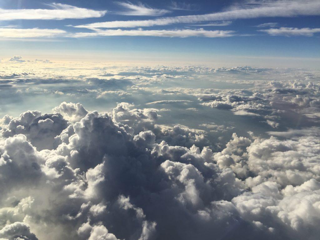 JALの機窓からの景色