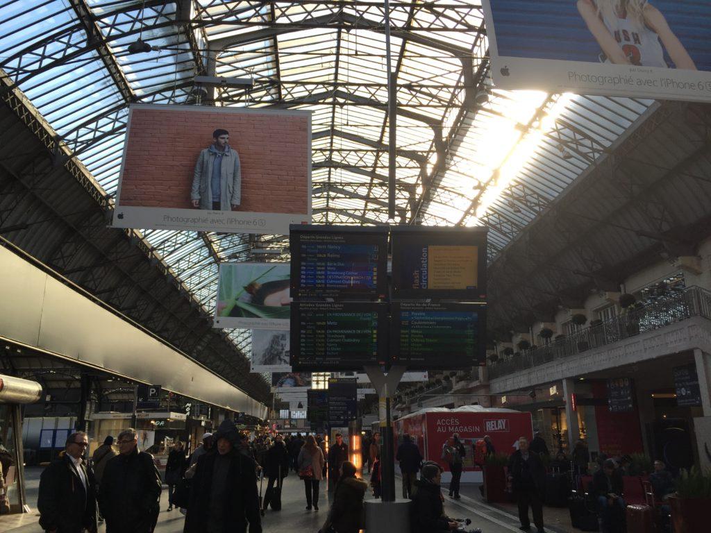 パリ東駅の構内