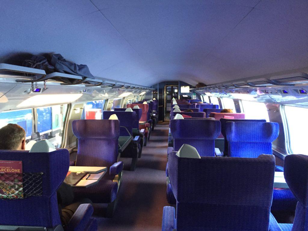 TGVの1等車両のシート