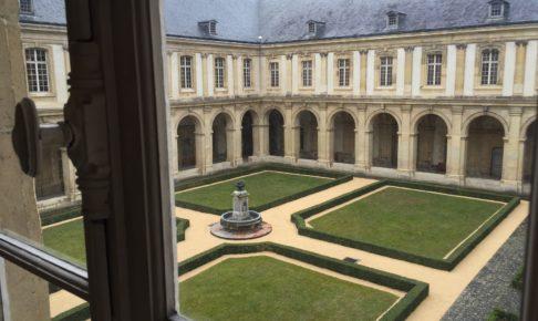 ランスのサン・レミ旧大修道院の中庭