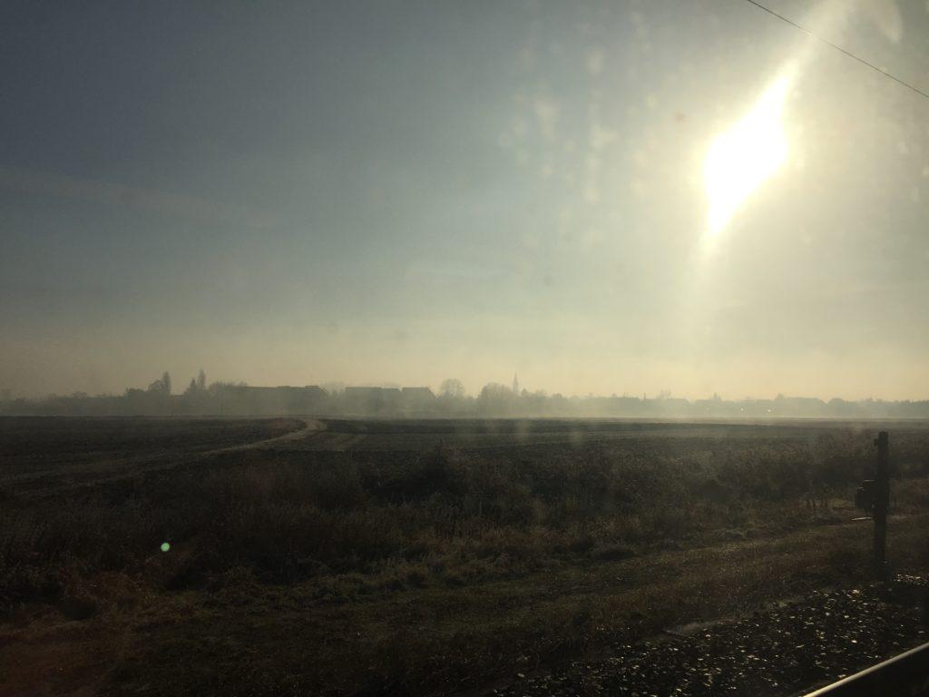 コルマール行きの列車の車窓