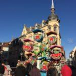 コルマールのクリスマスマーケットの観覧車