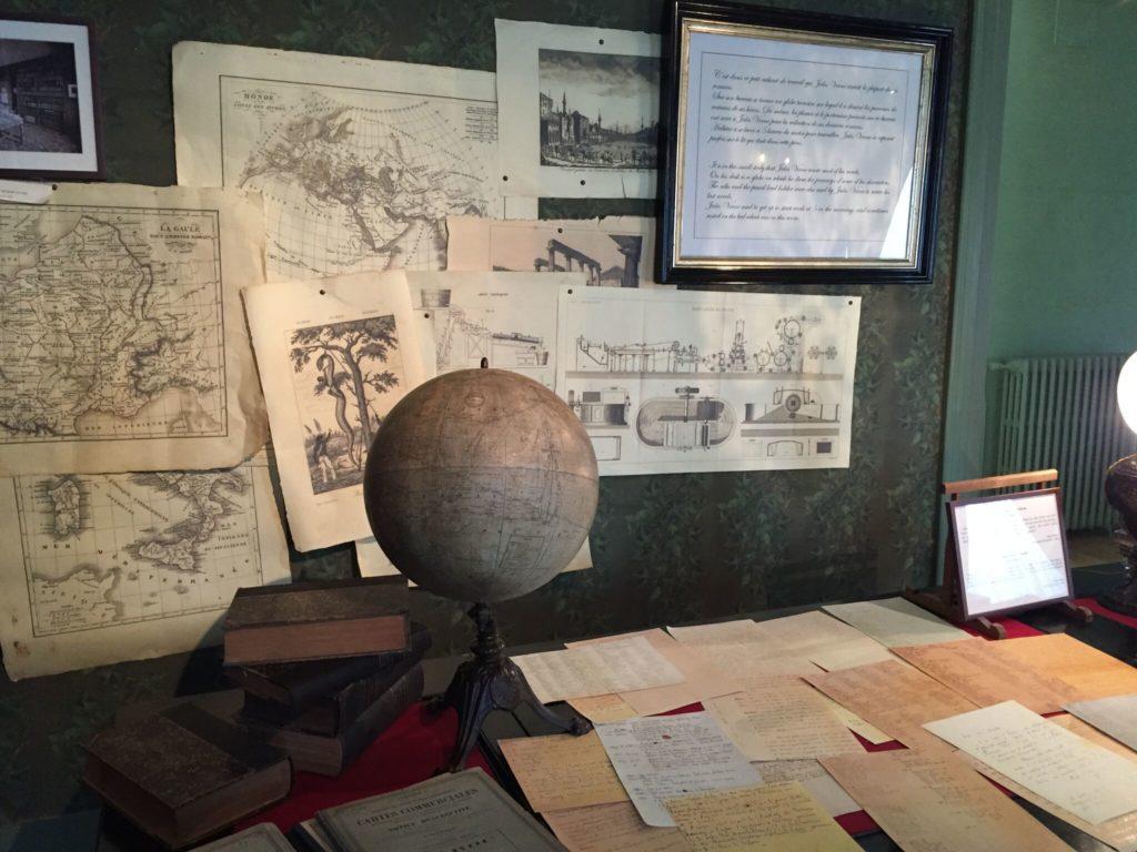 アミアンのジュール・ヴェルヌ記念館の地球儀