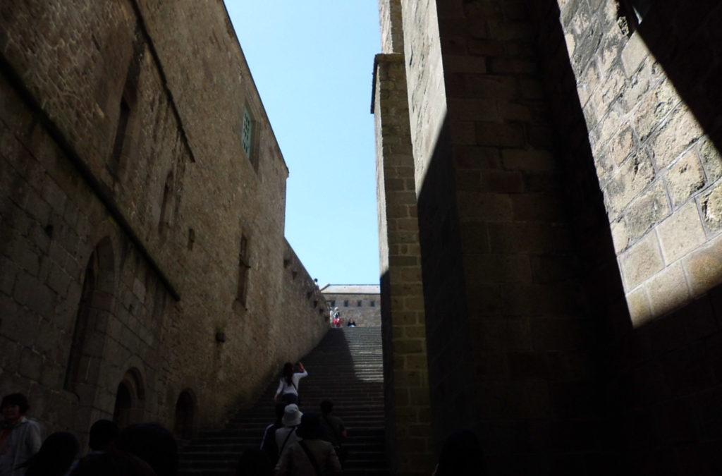 モン・サン・ミシェルの階段