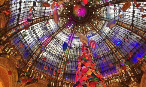 ギャラリーラファイエットのクリスマスの丸天井