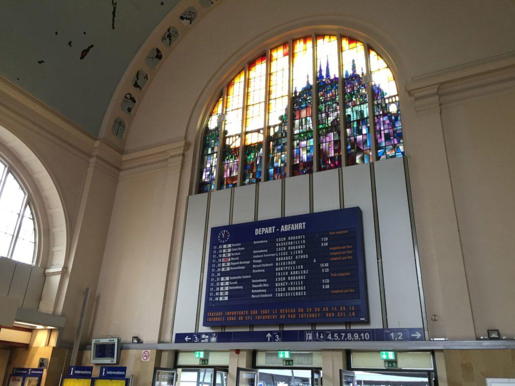 ルクセンブルク中央駅の駅舎