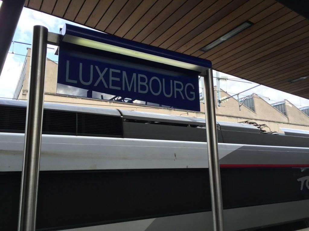 ルクセンブルク中央駅のホーム