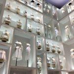 クリスチャン・ディオール展の白の空間