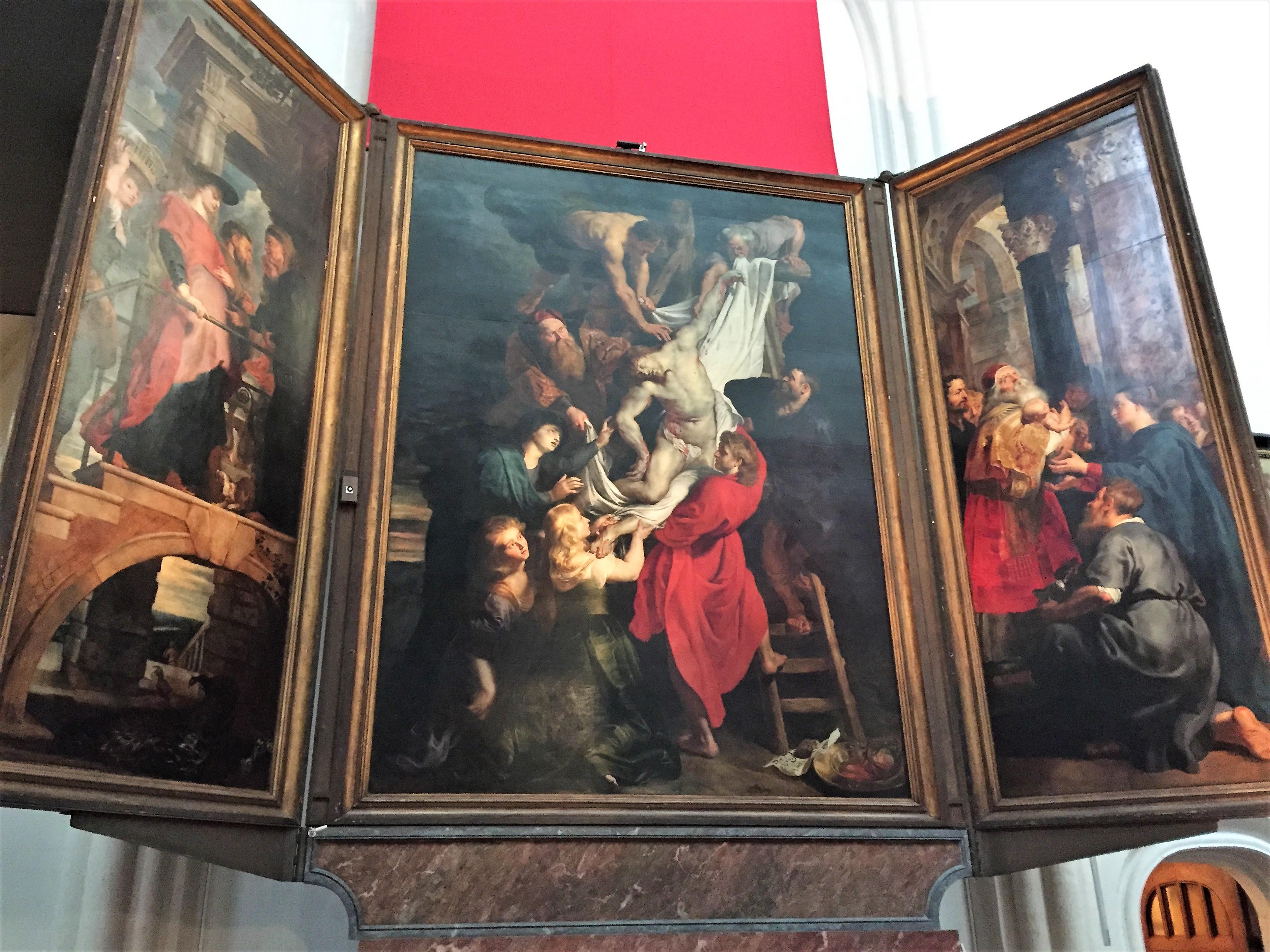 アントワープ聖母大聖堂のキリストの降架