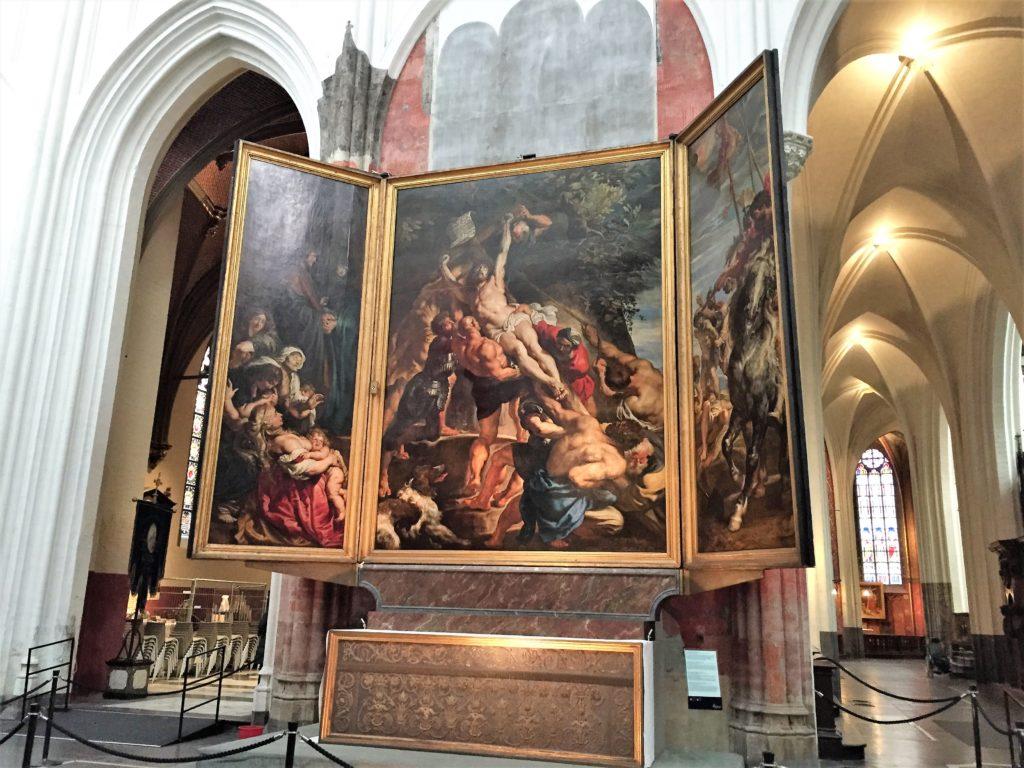 アントワープ聖母大聖堂のルーベンスのキリスト昇架