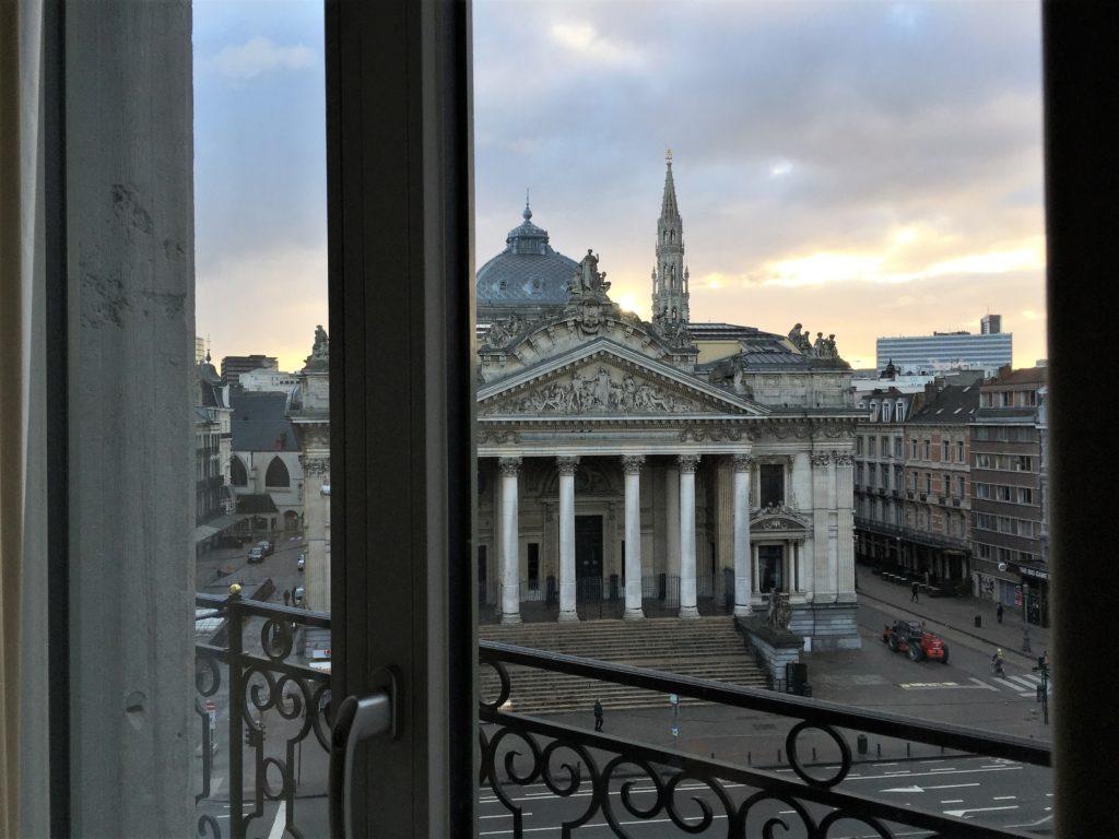 ブリュッセル・マリオットの部屋からの眺め