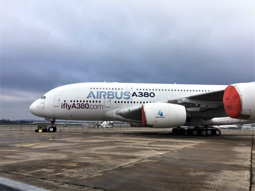 ル・ブルジェ航空宇宙博物館のエアバスA380