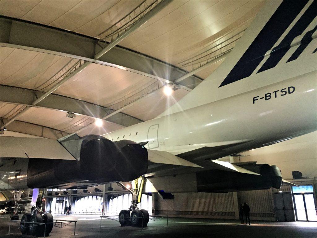 ル・ブルジェ航空宇宙博物館のコンコルドの後方