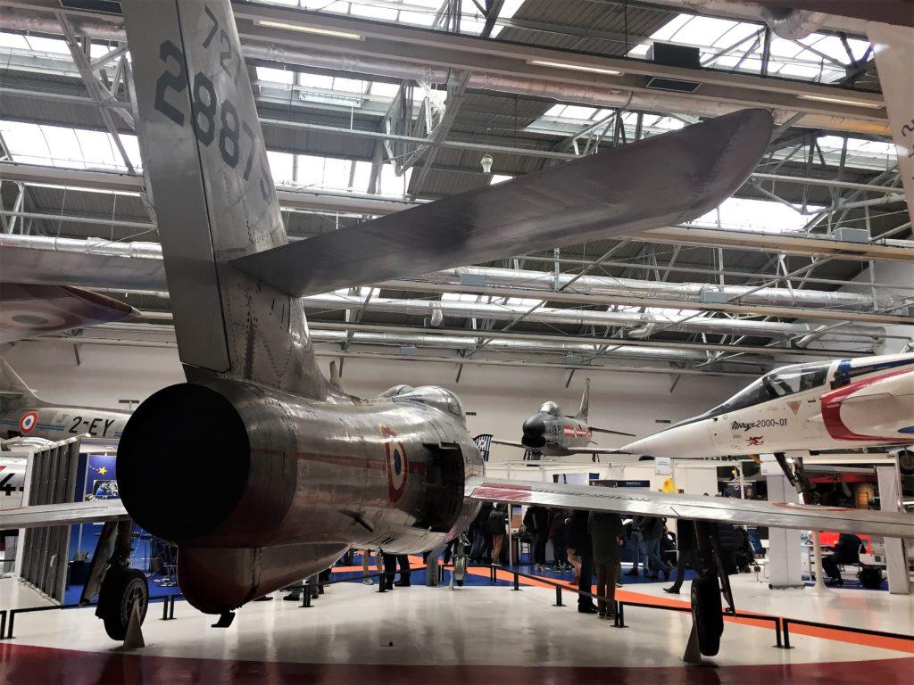 ル・ブルジェ航空宇宙博物館の戦闘機の展示