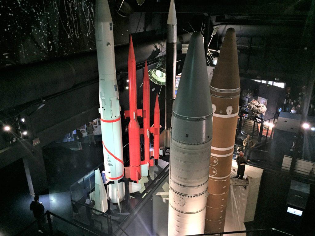 ル・ブルジェ航空宇宙博物館のロケットの模型