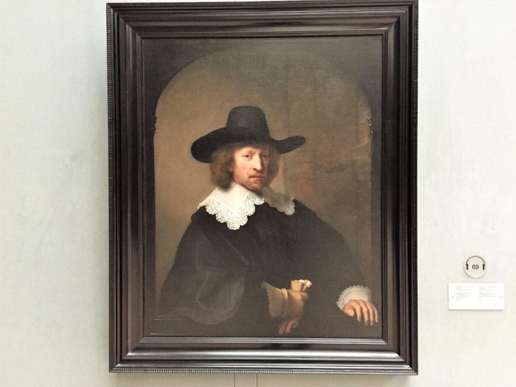 ベルギー王立美術館のレンブラントの「ニコラス・ヴァン・バンベック」