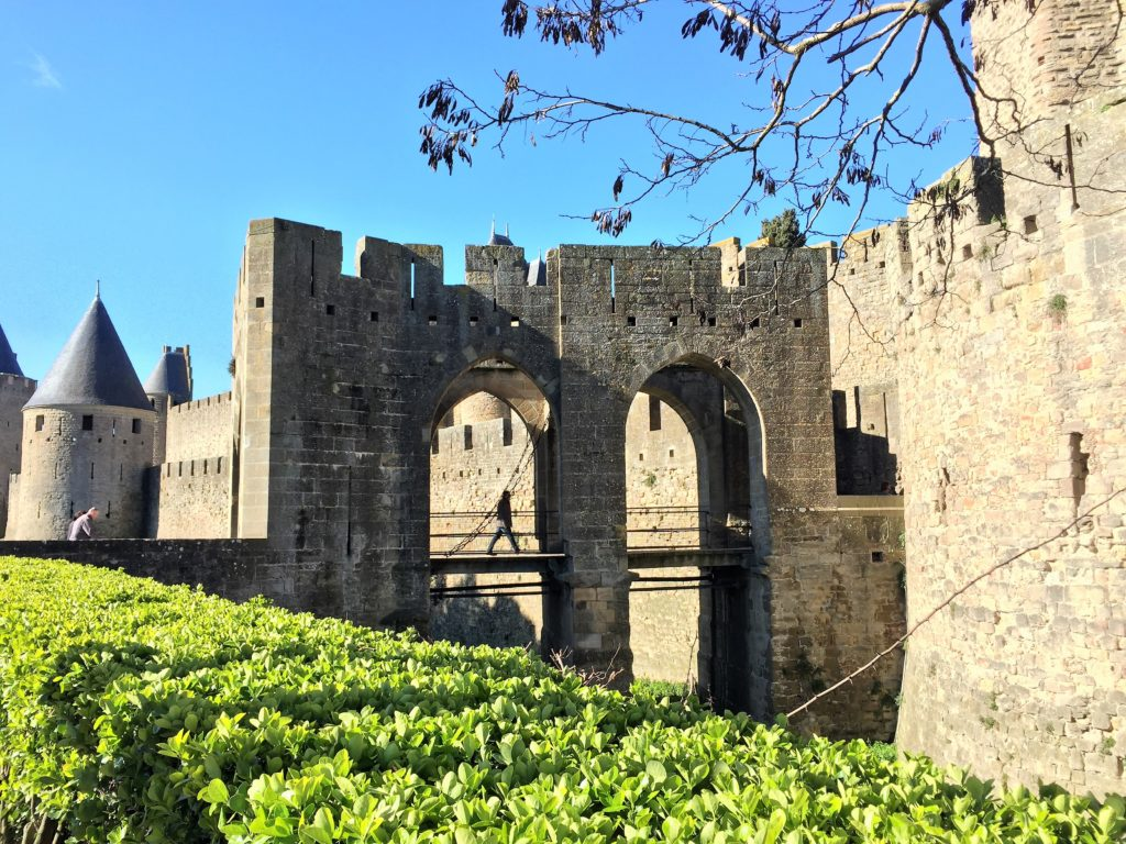 カルカソンヌの城壁の入口
