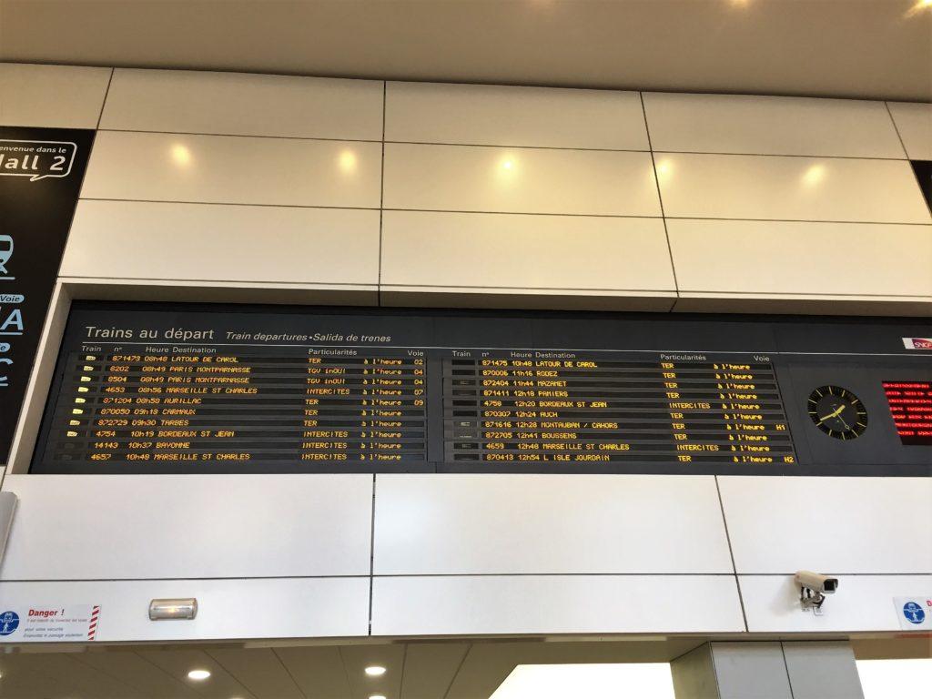 トゥールーズのマタビオ駅の表示板