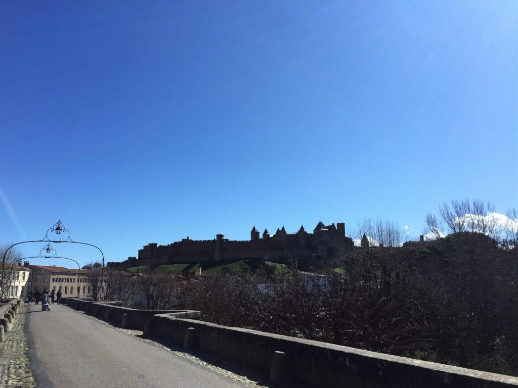 ヴュー橋からのカルカソンヌの眺め