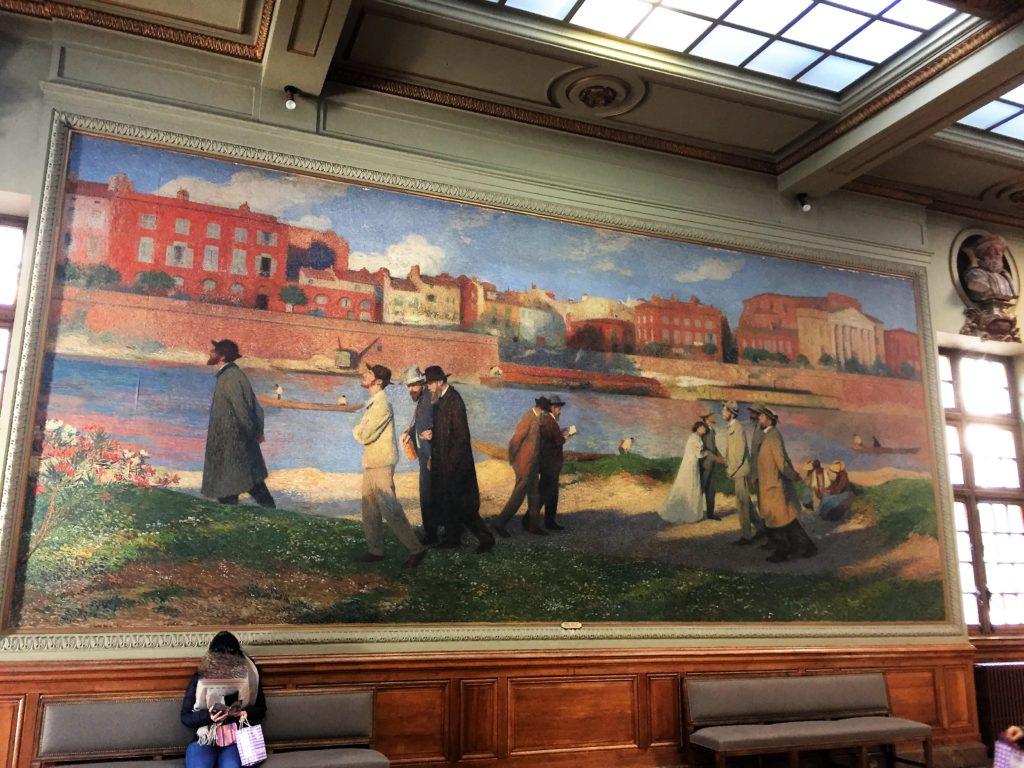 トゥールーズ市庁舎のアンリ・マルタンの絵画