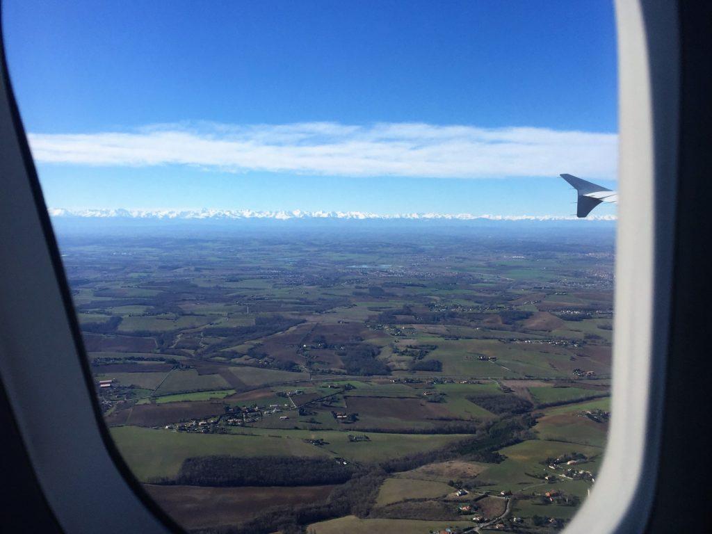 機窓からのピレネー山脈