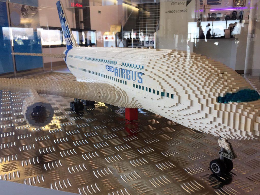 レゴで作られたエアバスA380