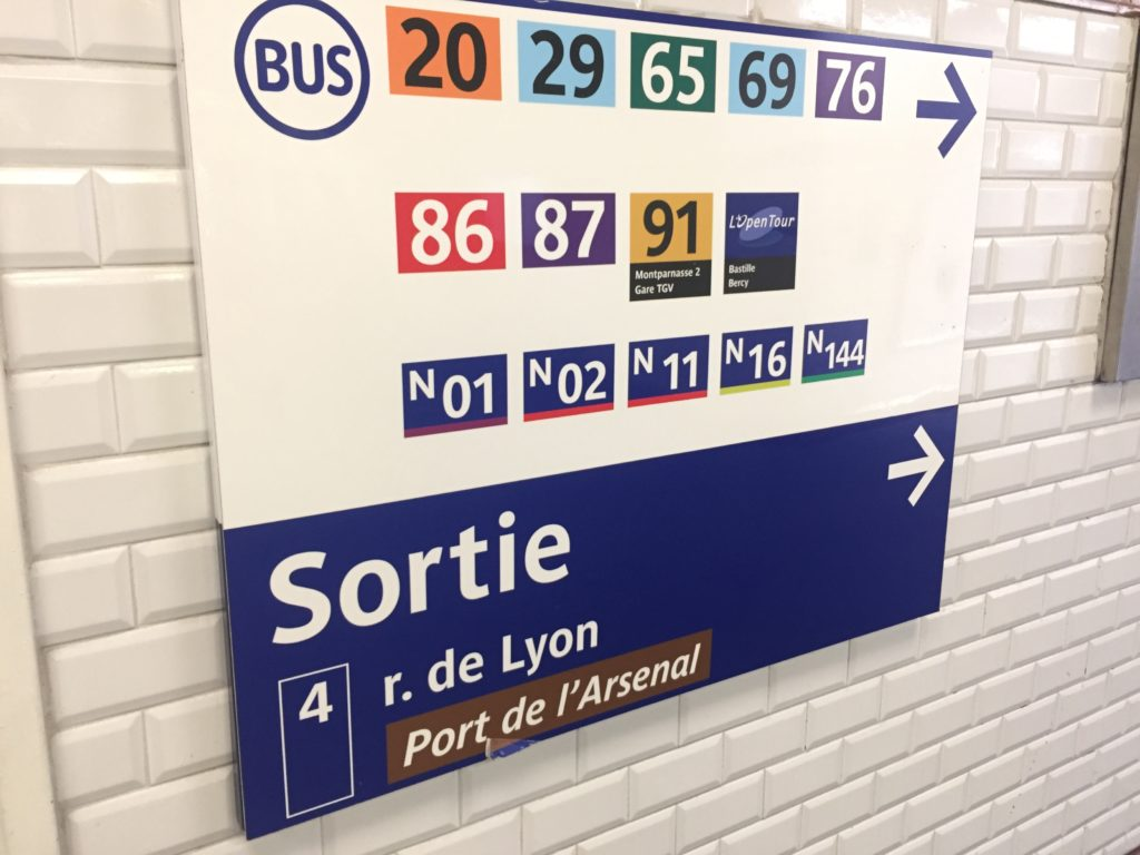 バスティーユ駅の4番出口