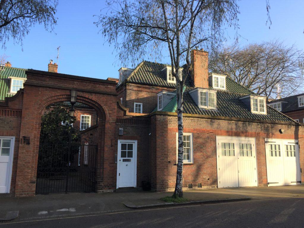 ロンドンのチェルシー地区の住宅