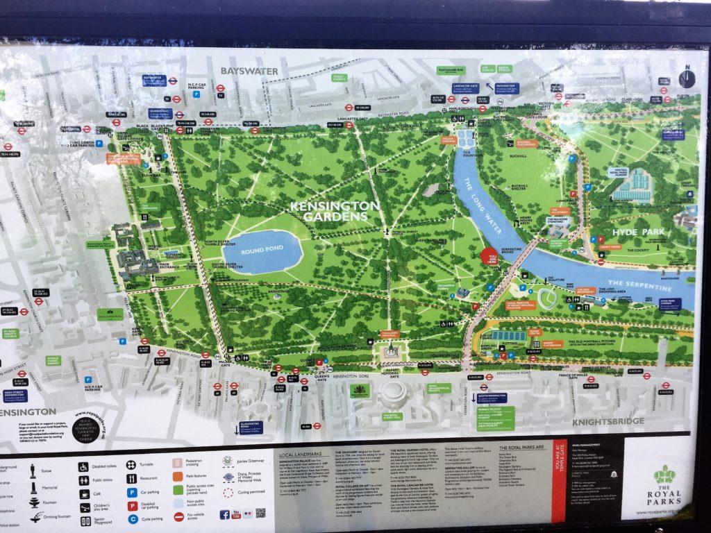 ケンジントン公園の案内の地図