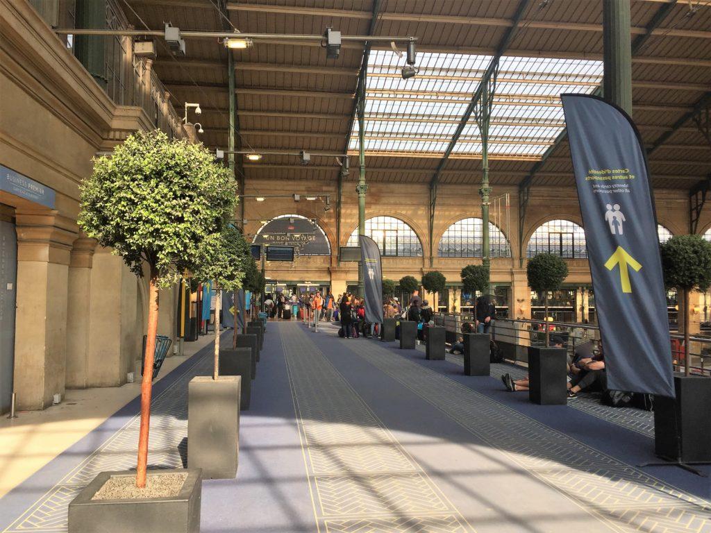 パリ北駅ユーロスターの出国審査場