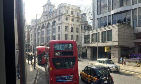ロンドンの2階建てバスからの眺め