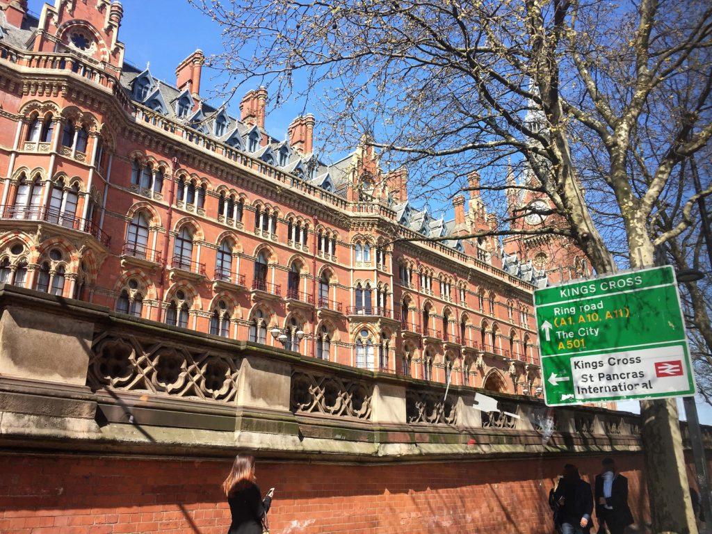 ロンドンのセント・パンクラス駅の外観