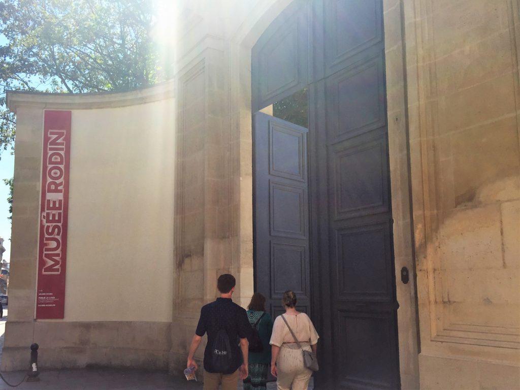 ロダン美術館の入口