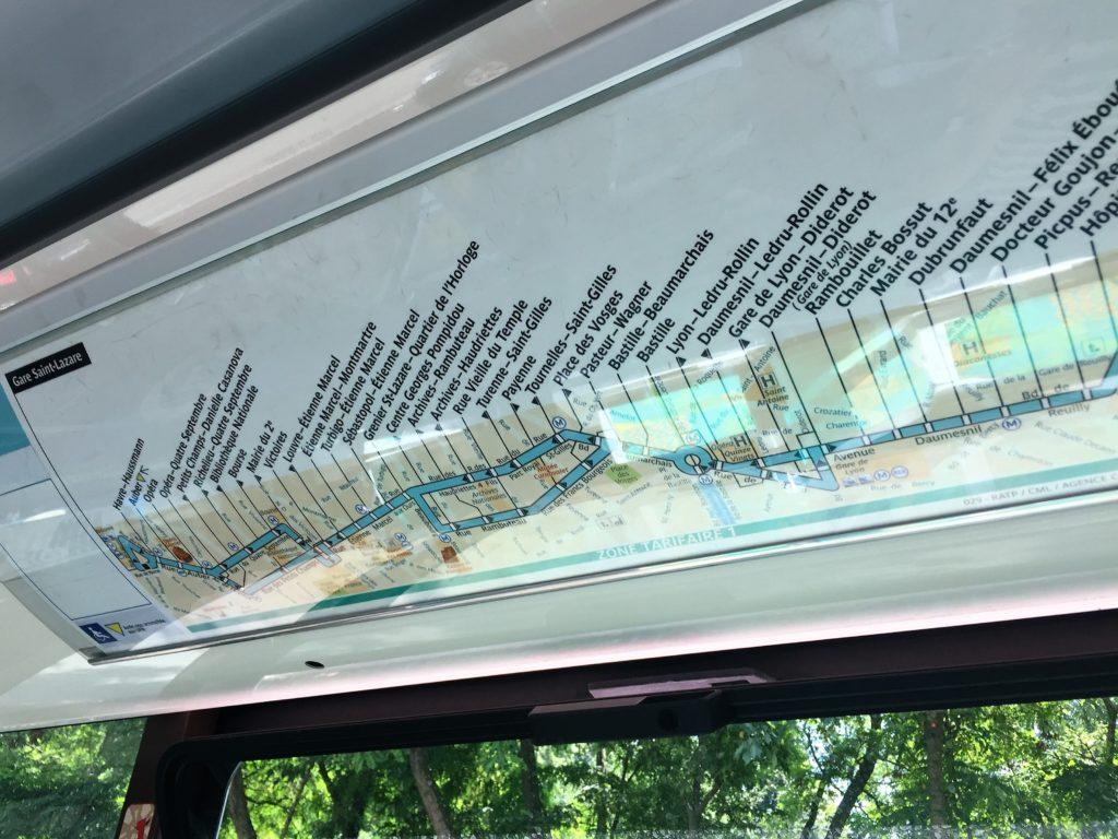 バス29番の路線図