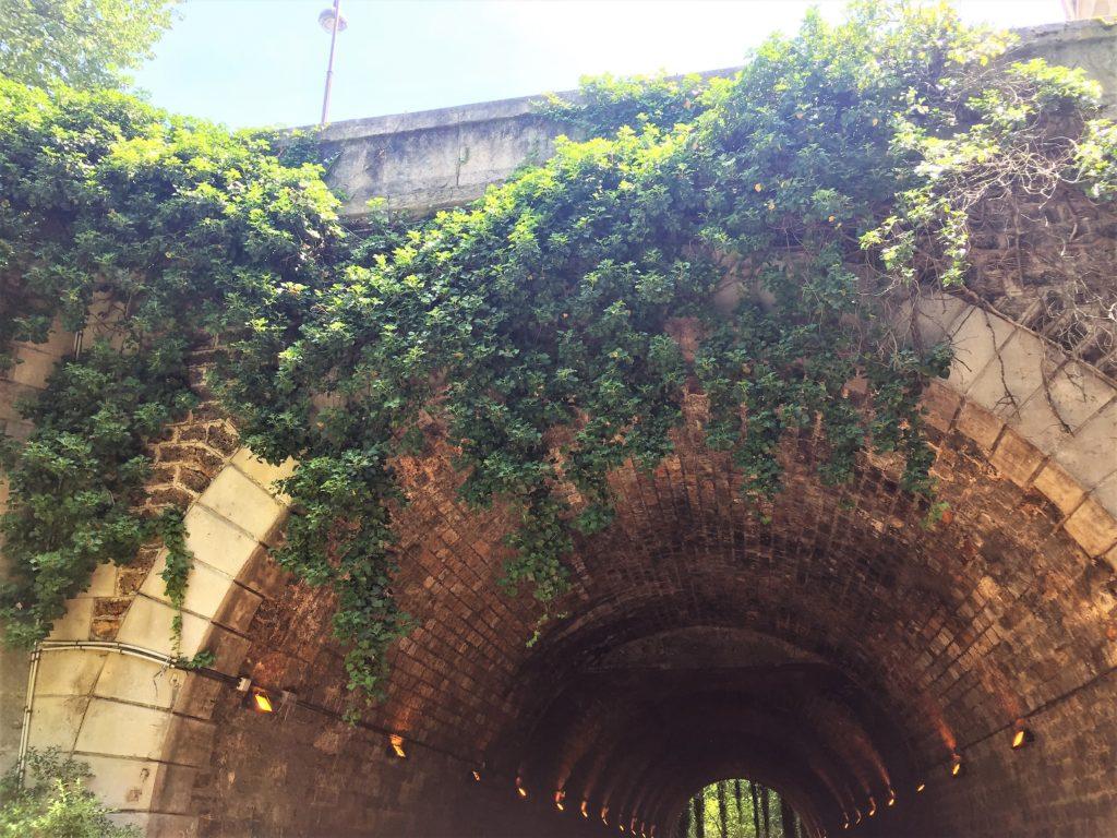プロムナード・プランテのトンネル