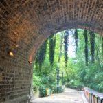 プロムナード・プランテのトンネルの中から見た風景