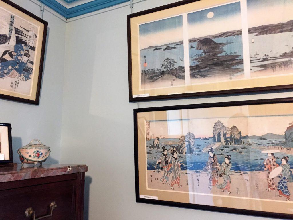 ジヴェルニーのモネの家の浮世絵のコレクション