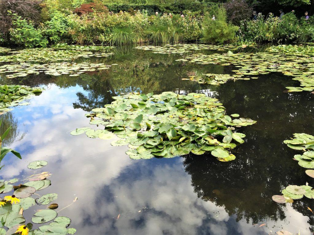 ジヴェルニーの睡蓮の池に映った青空