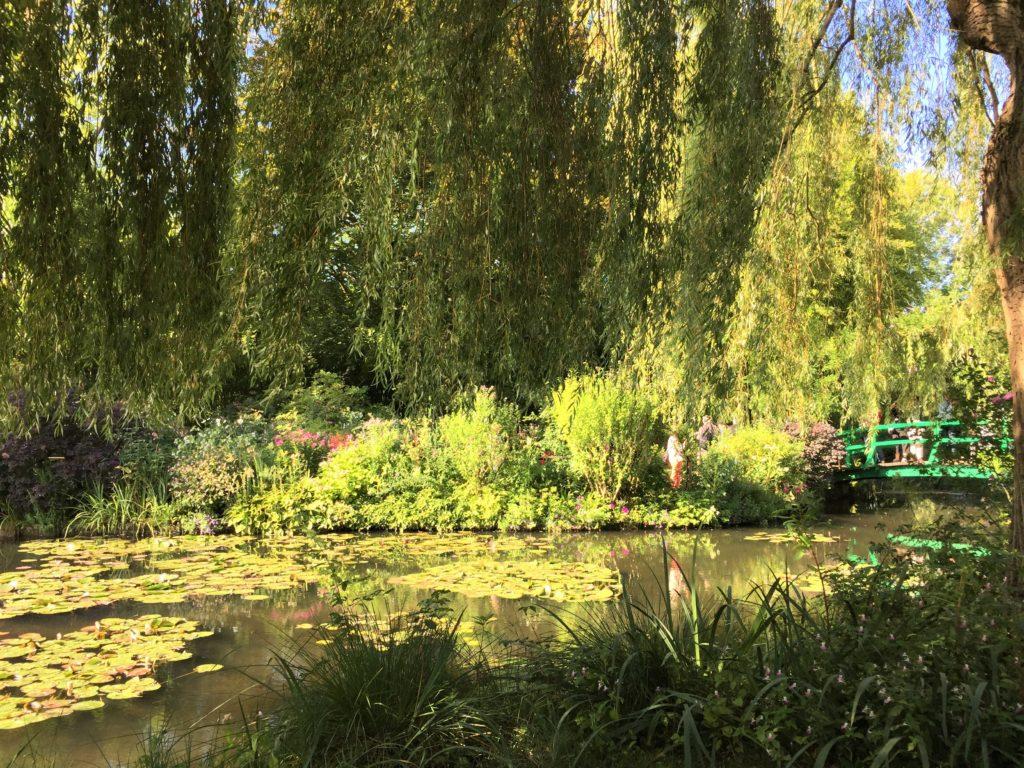 ジヴェルニーの日が高くなった昼ごろの睡蓮の池