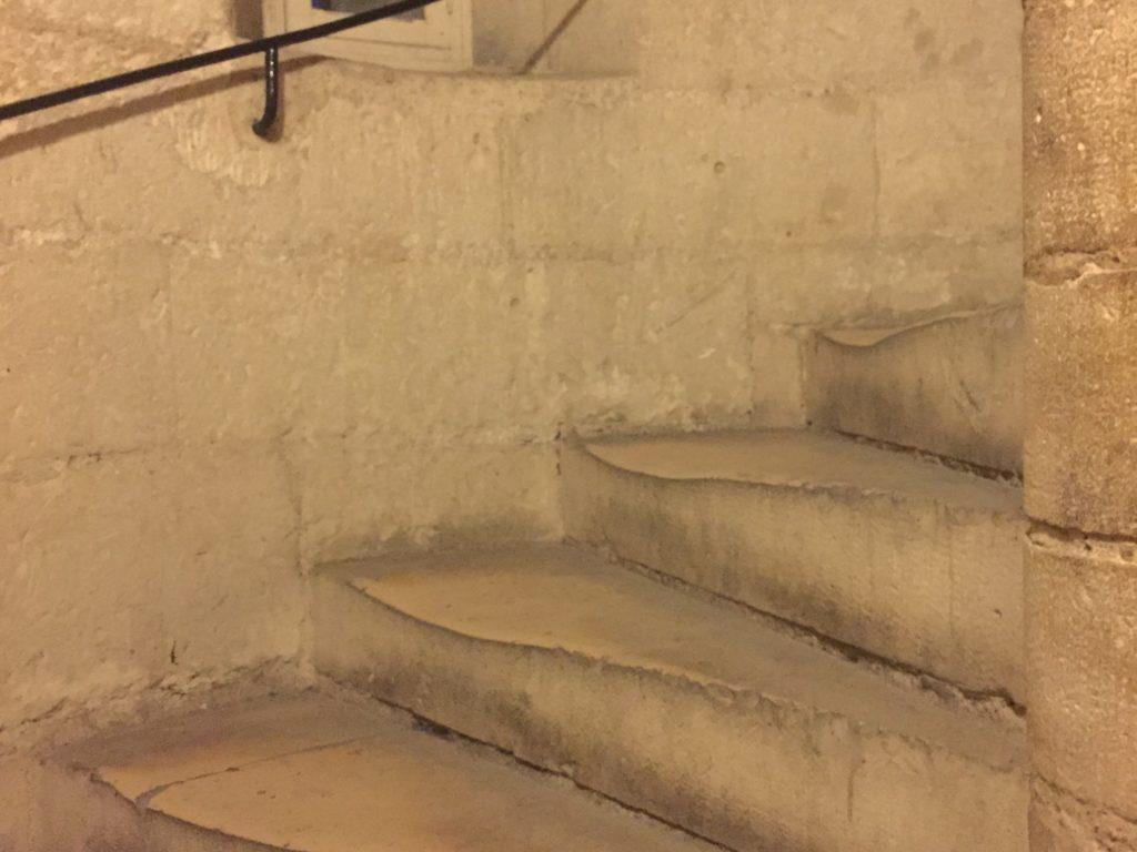 ノートルダム寺院の南塔の螺旋階段