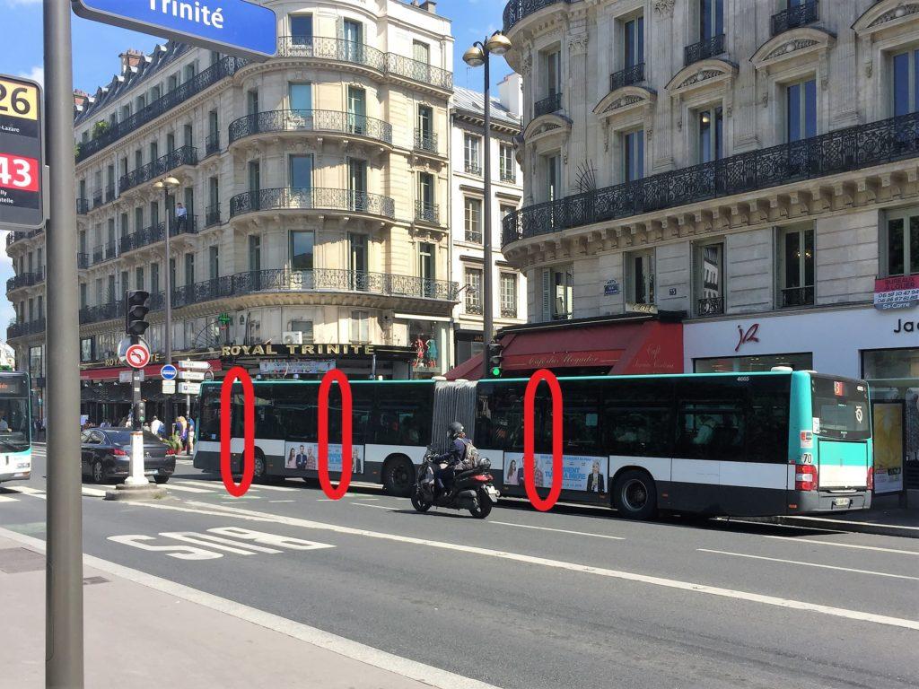 パリの連結バス