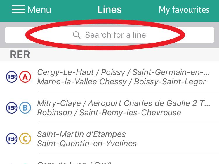パリのバスの路線番号検索