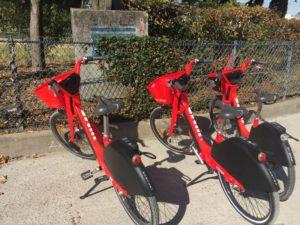UberのレンタサイクルサービスJUMPの自転車